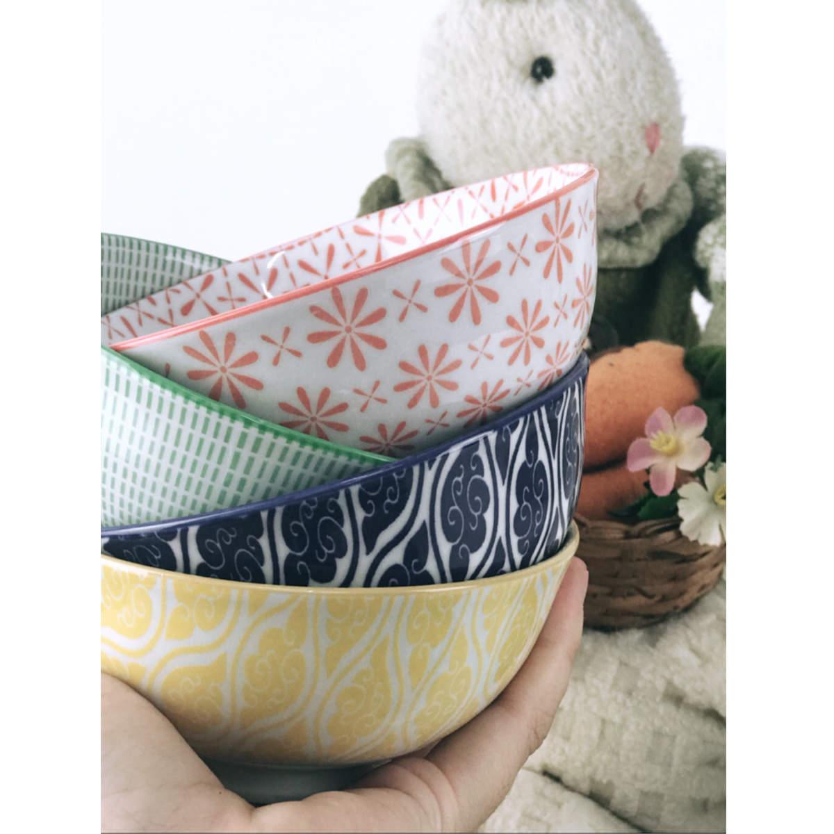 Conjunto de Bowls Decorativos em Estampas Sortidas - Basic (4 Peças)