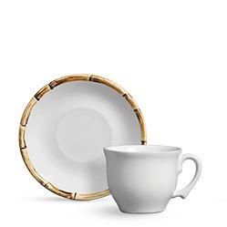 Conjunto Xícaras de Chá - Bambu para 6 Pessoas (12Pçs)