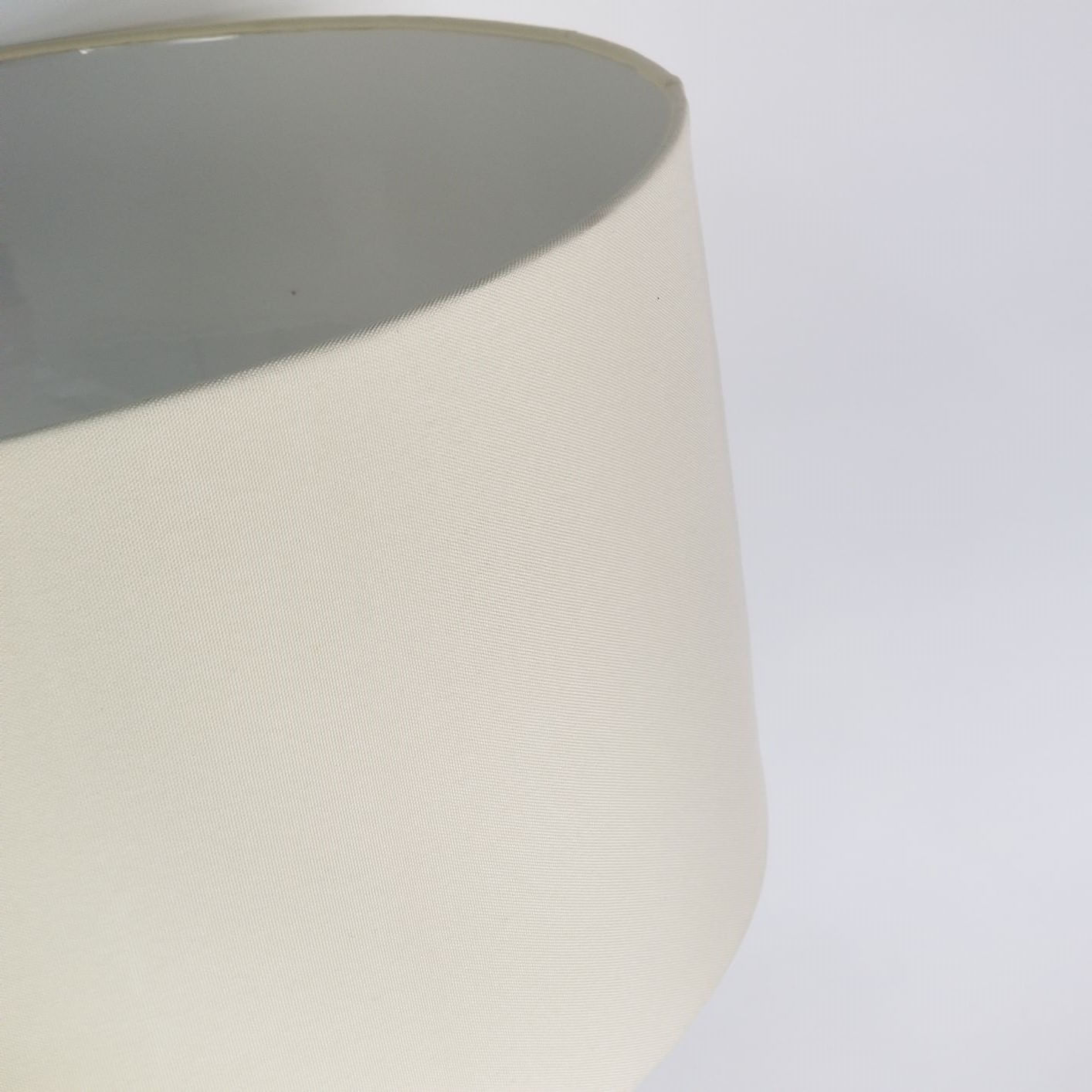 Cúpula Cilíndrica de Tecido 40x22cm - Bege Claro