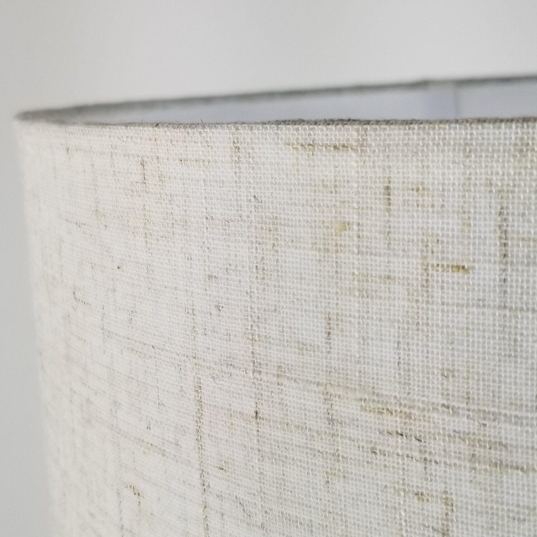 Cúpula Cilíndrica de Tecido 40x22cm - Bege Palha