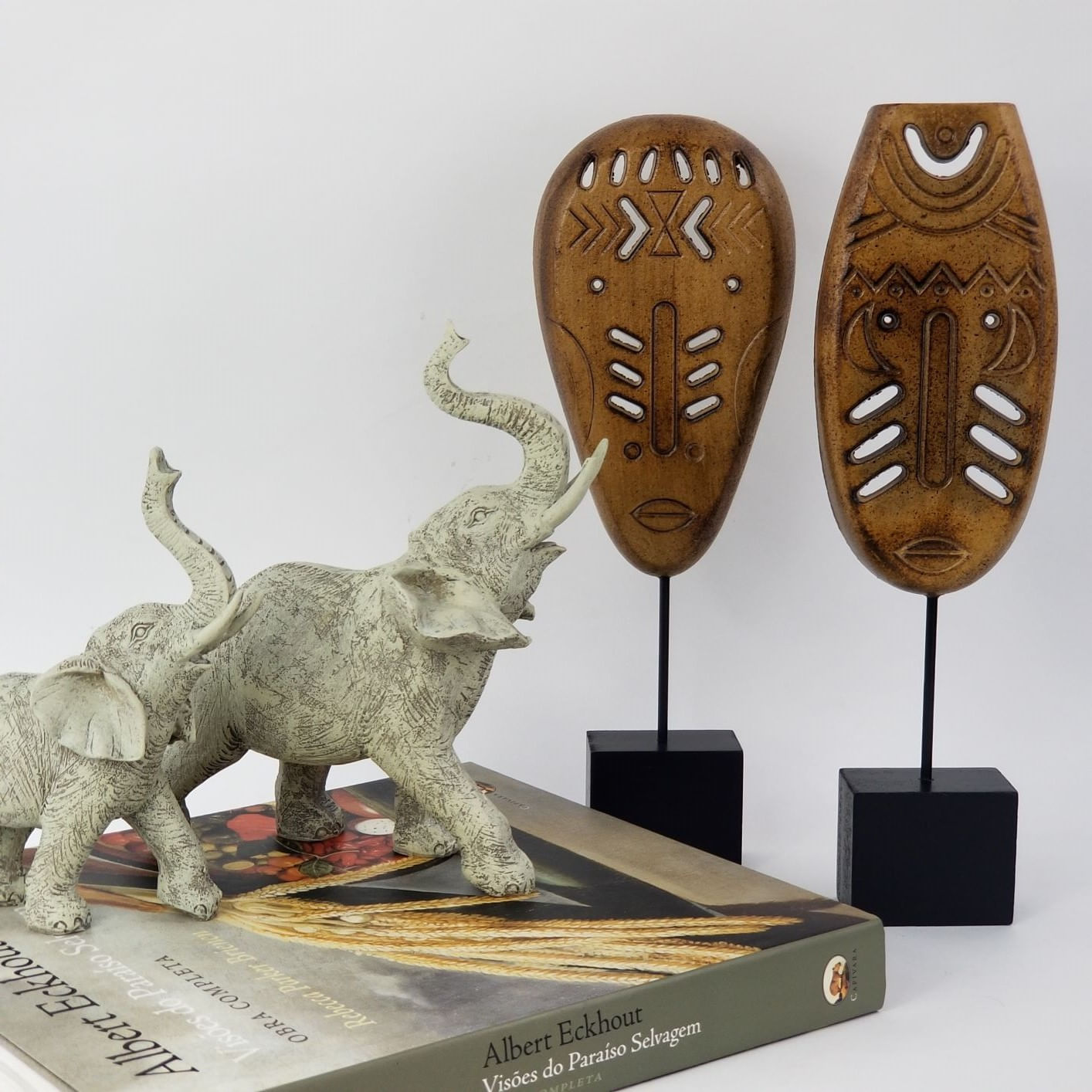 Elefante Decorativo de Resina - Filho / Pequeno Cor Cinza