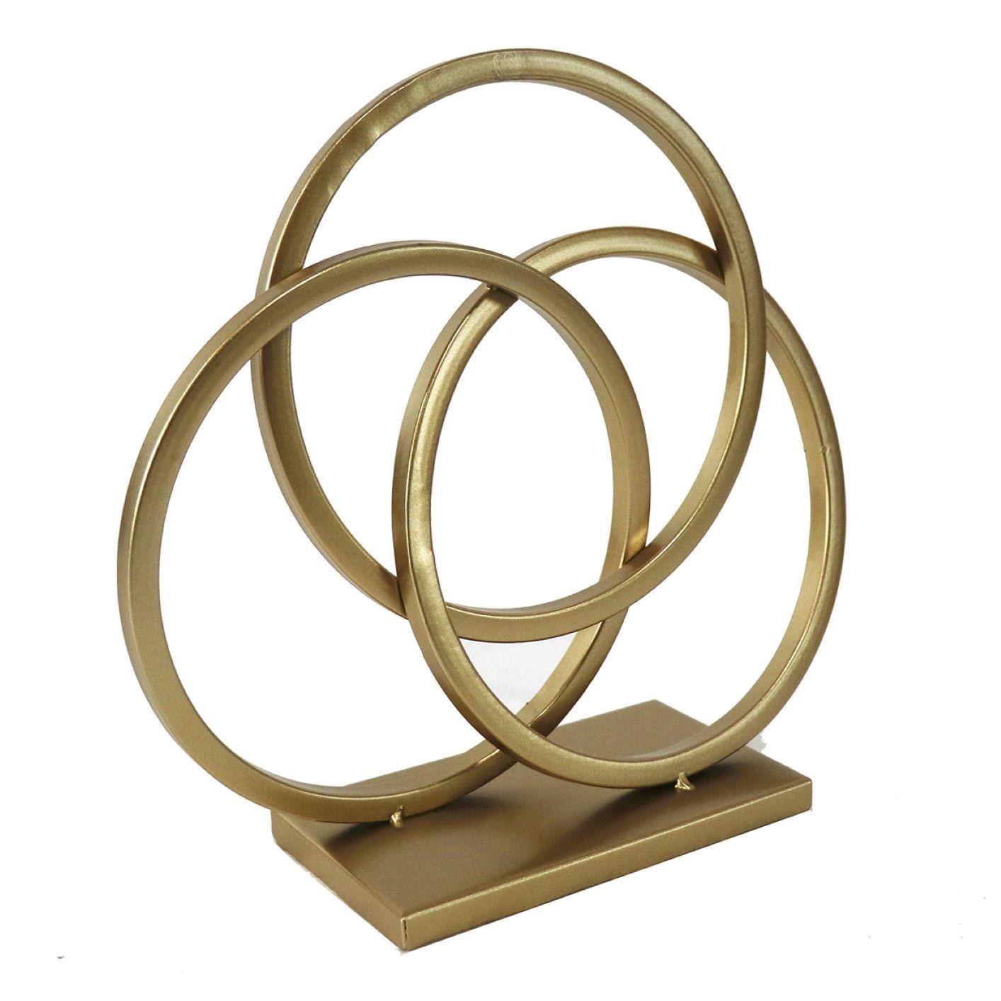 Escultura Abstrata Arcos Dourados - União Com Harmonia