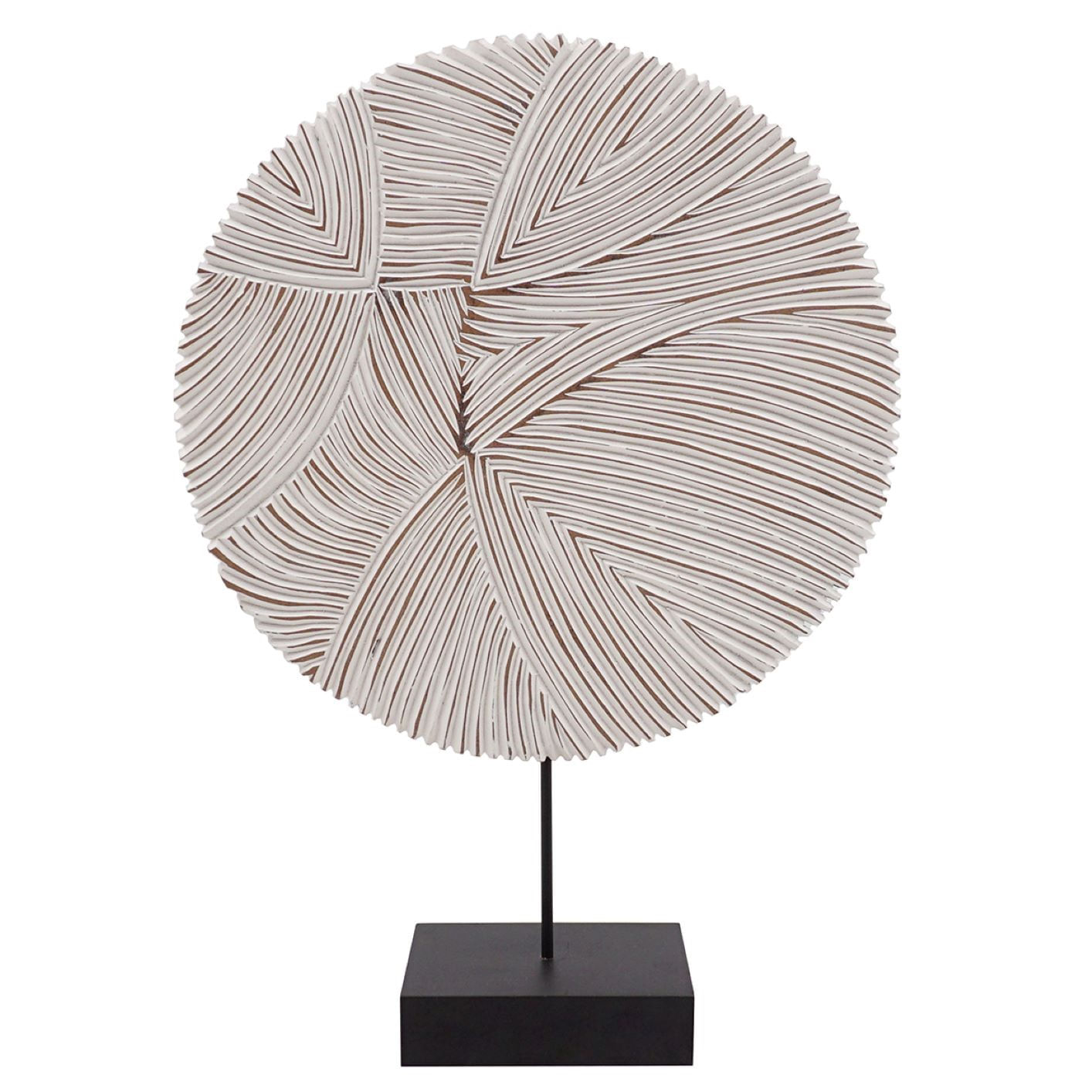 Escultura de Madeira com Base - Objeto de Decoração 35cm