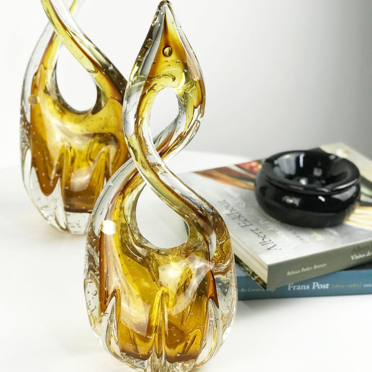 Escultura De Murano D'Labone - Cristal Âmbar 50cm
