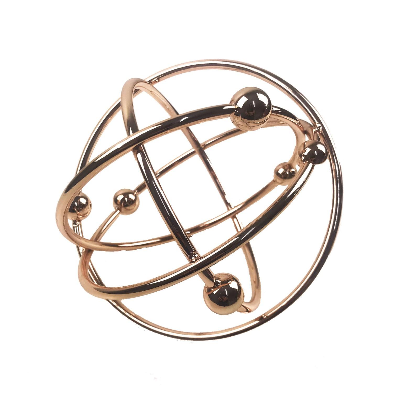 Esfera Decorativa em Metal Átomo - Rose Gold