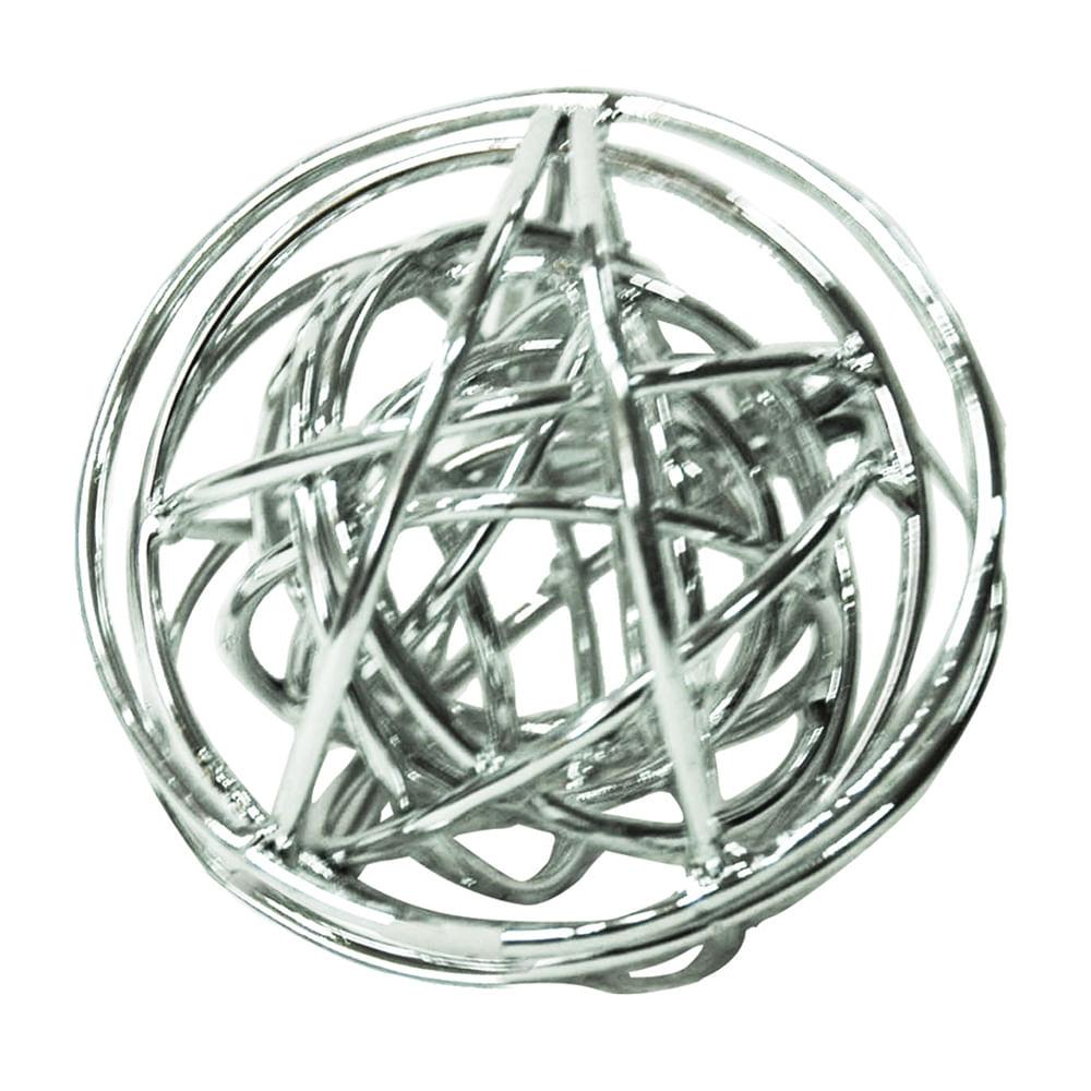 Esfera Decorativa em Metal Interestelar - Prata