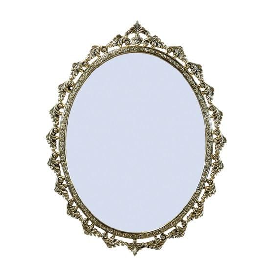 Espelho Oval Clássico - Moldura em Bronze 60cm