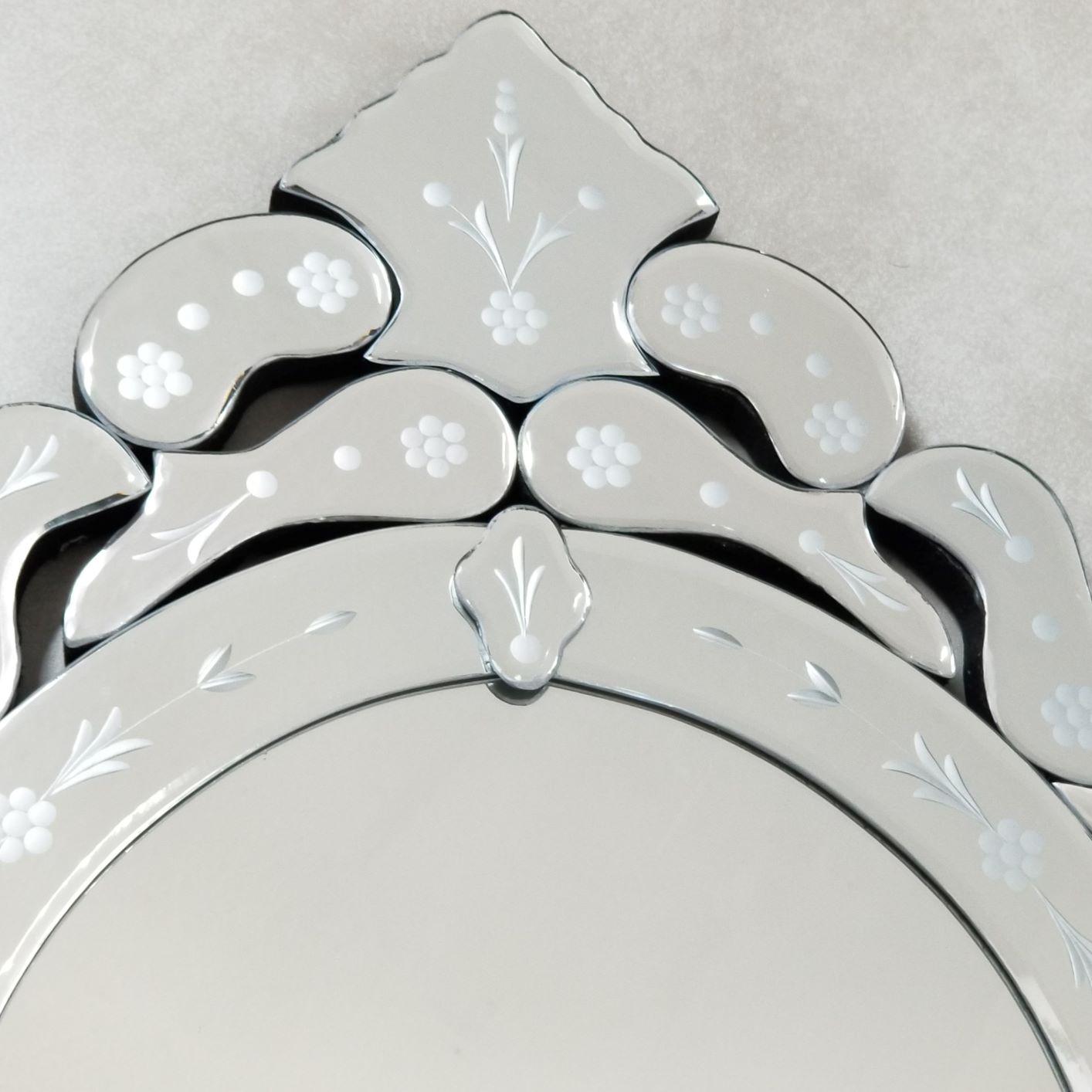 Espelho Oval Para Banheiro / Sala - Veneziano Grande Bisotê