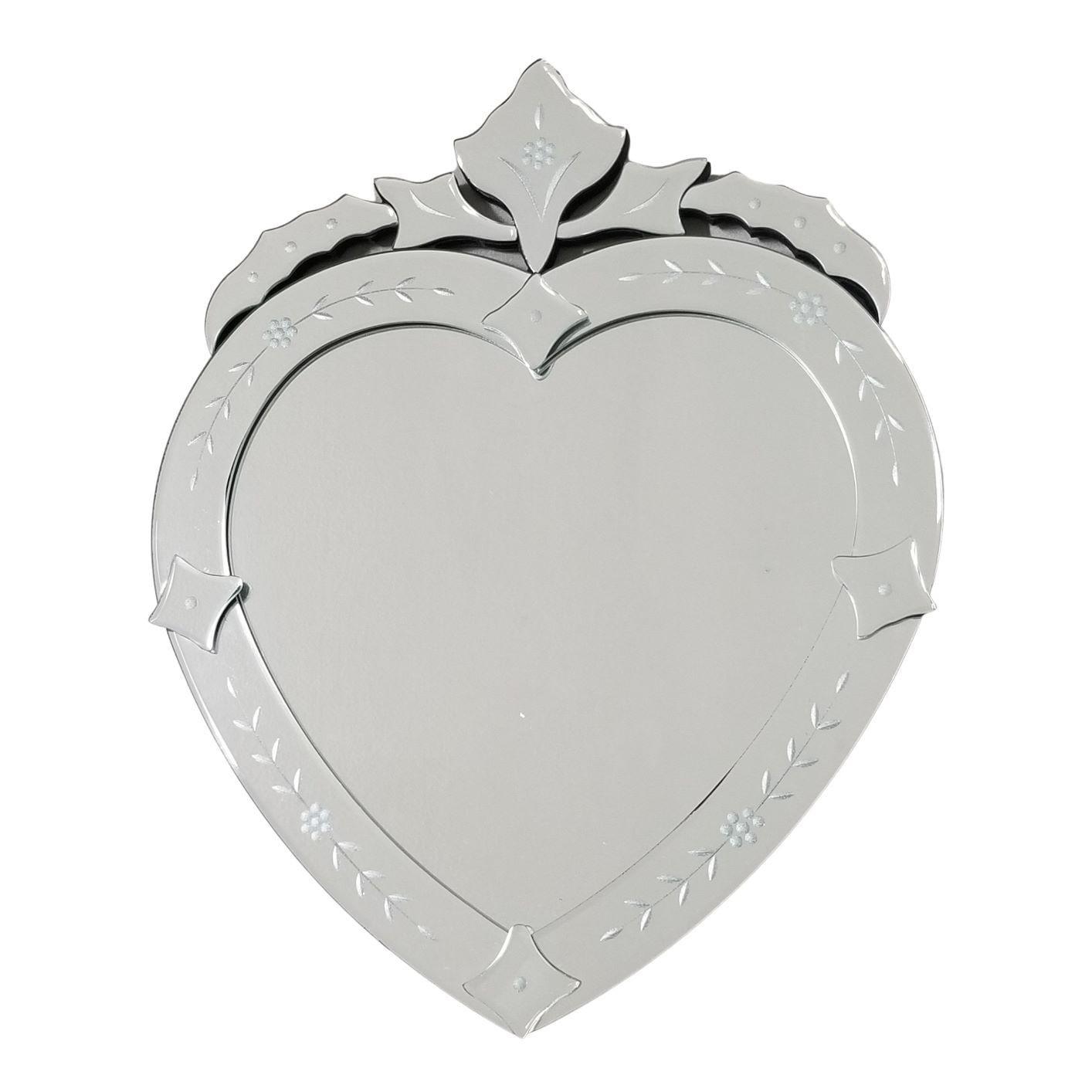 Espelho Veneziano Formato Coração para Banheiro / Quarto