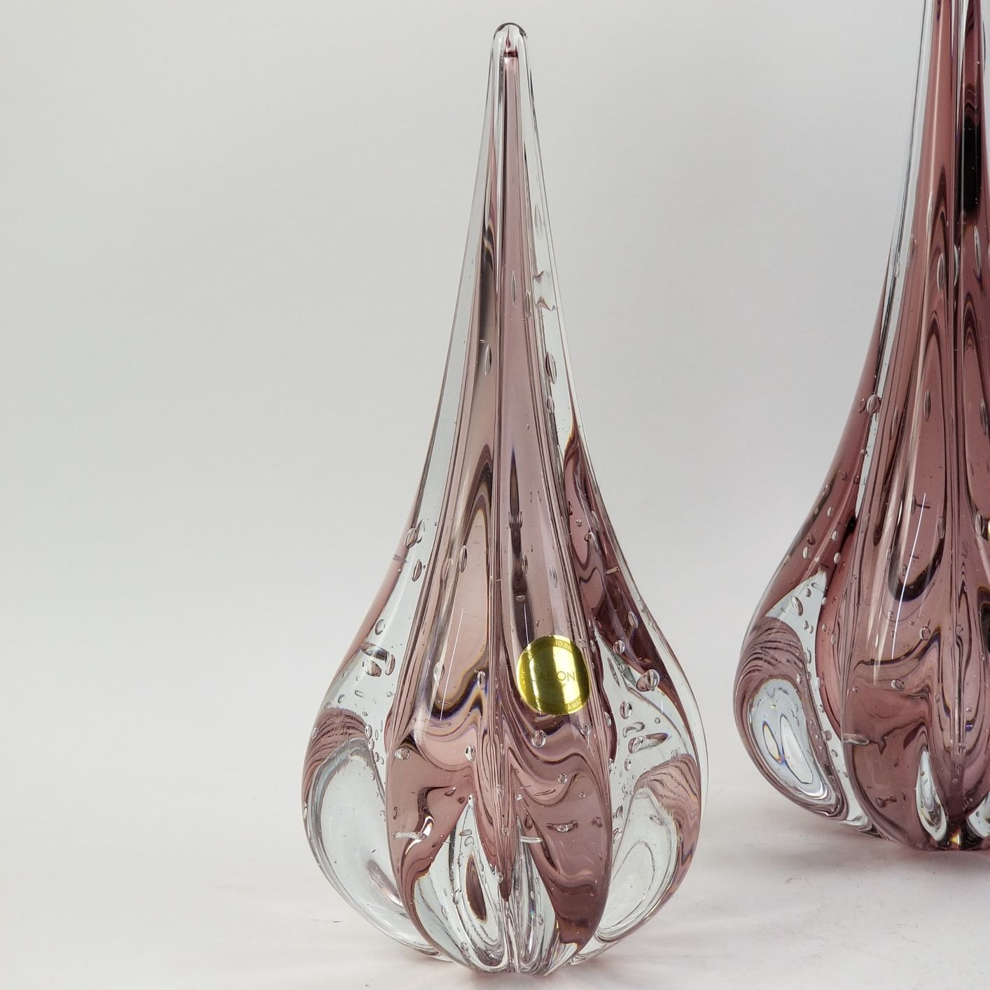 Gota de Murano Labone - Cristal Rosa New Rubi 25cm