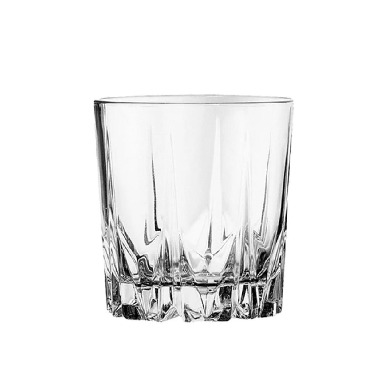 Jogo Com 6 Copos Baixos de Vidro Para Água / Suco / Whisky