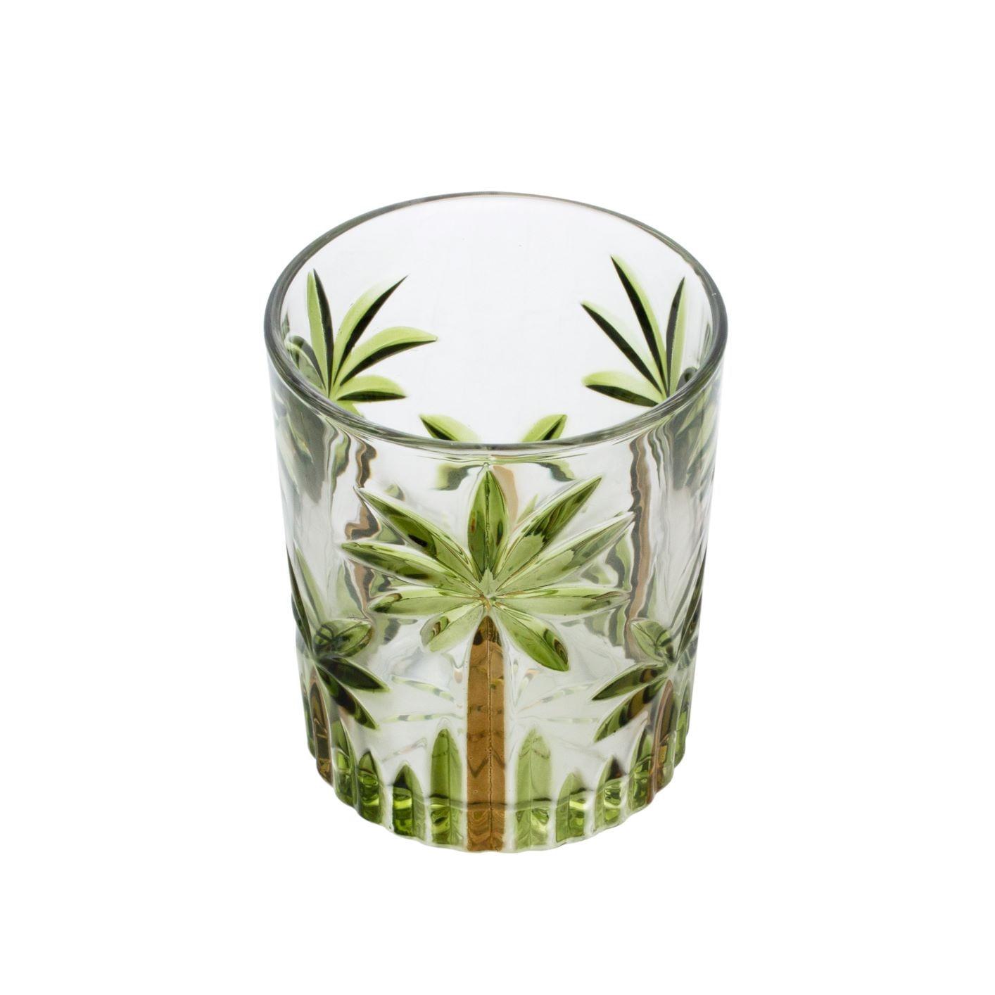 Jogo de Copos de Cristal 340ml - Palm Tree Wolff (6 Peças)