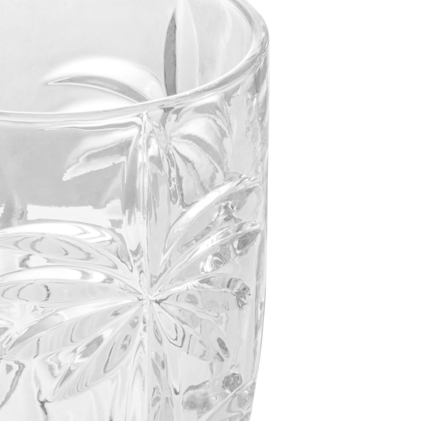 Jogo de Taças de Cristal Wolff - Palm Tree Incolor (6 Peças)