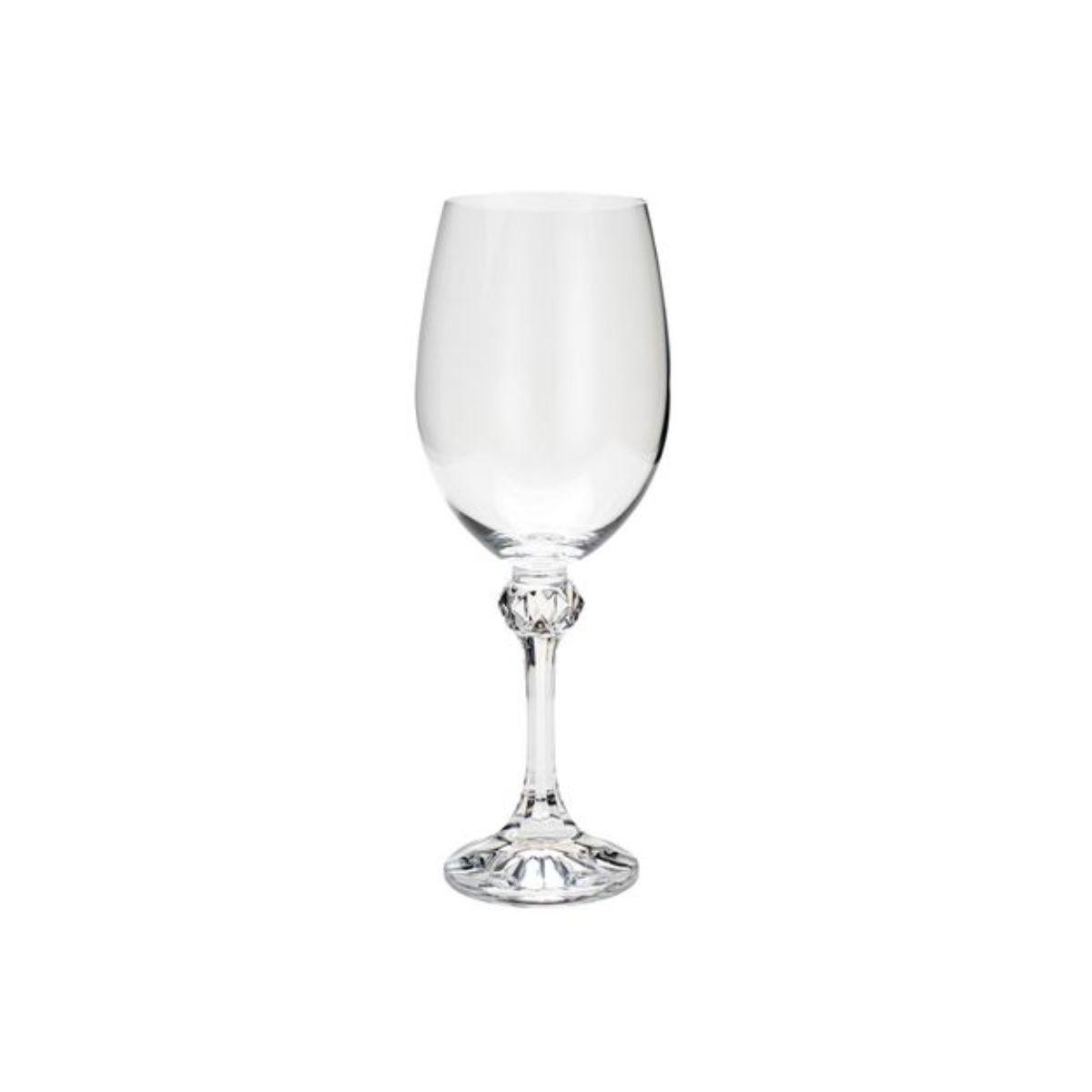 Jogo Taças de Cristal para Água - Bohemia Elisa 450Ml 6 pçs