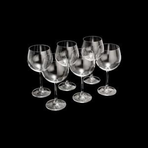 Jogo Taças de Gin Tônica Cristal Bohemia Titânio (6 Peças)