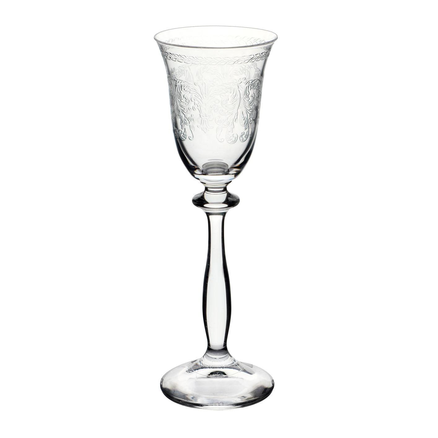 Jogo Taças de Licor Cristal Bohemia Pantografadas (6 Peças)