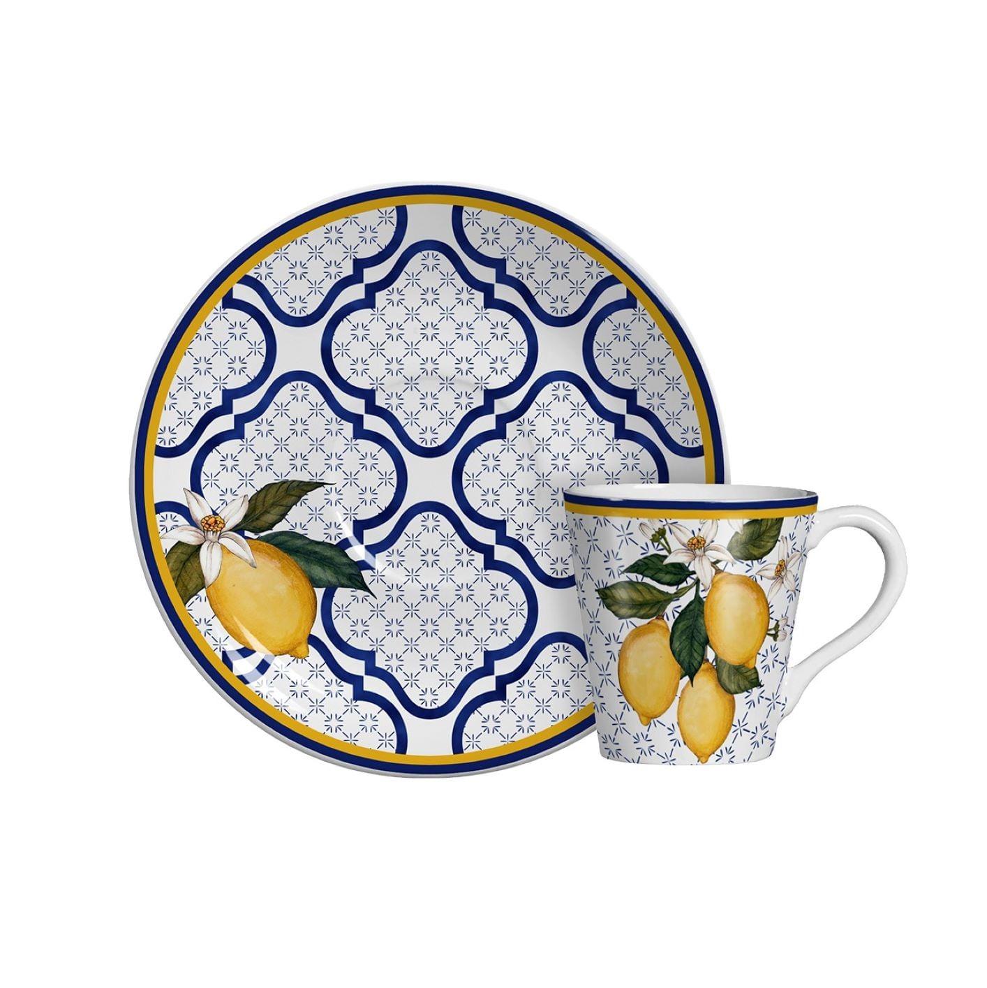Jogo Xícaras de Café Scalla Sicília - Limões (6 Pessoas)