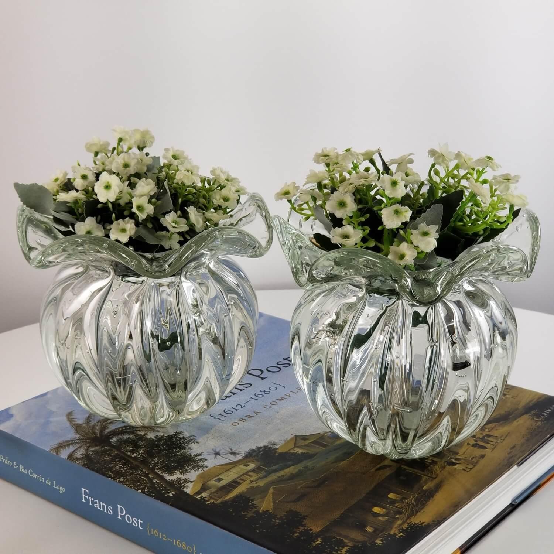 Kit 2 Trouxinhas de Murano - Vasos Decorativos de Cristal