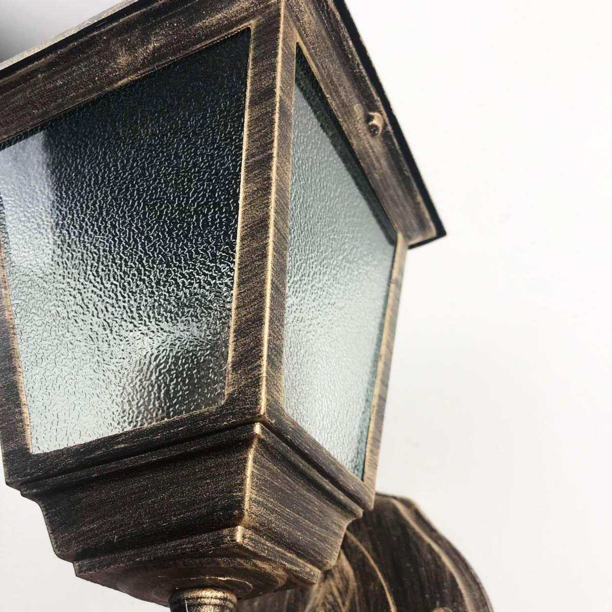 Kit 4 Arandelas Coloniais 4 Faces Em Alumínio - Ouro Velho