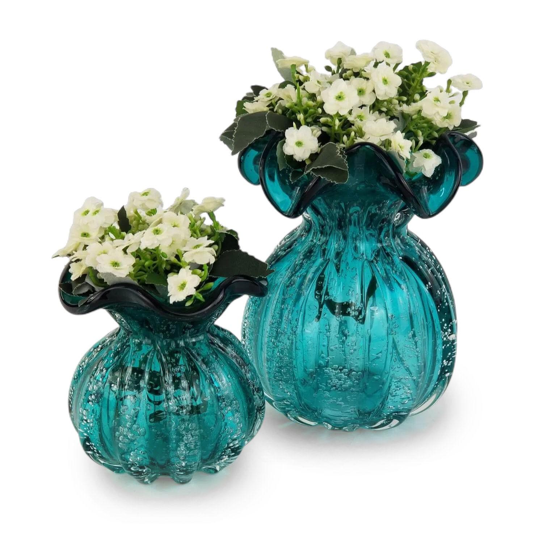 Kit Trouxinhas de Murano - Vasos de Cristal Esmeralda (2 Peças)