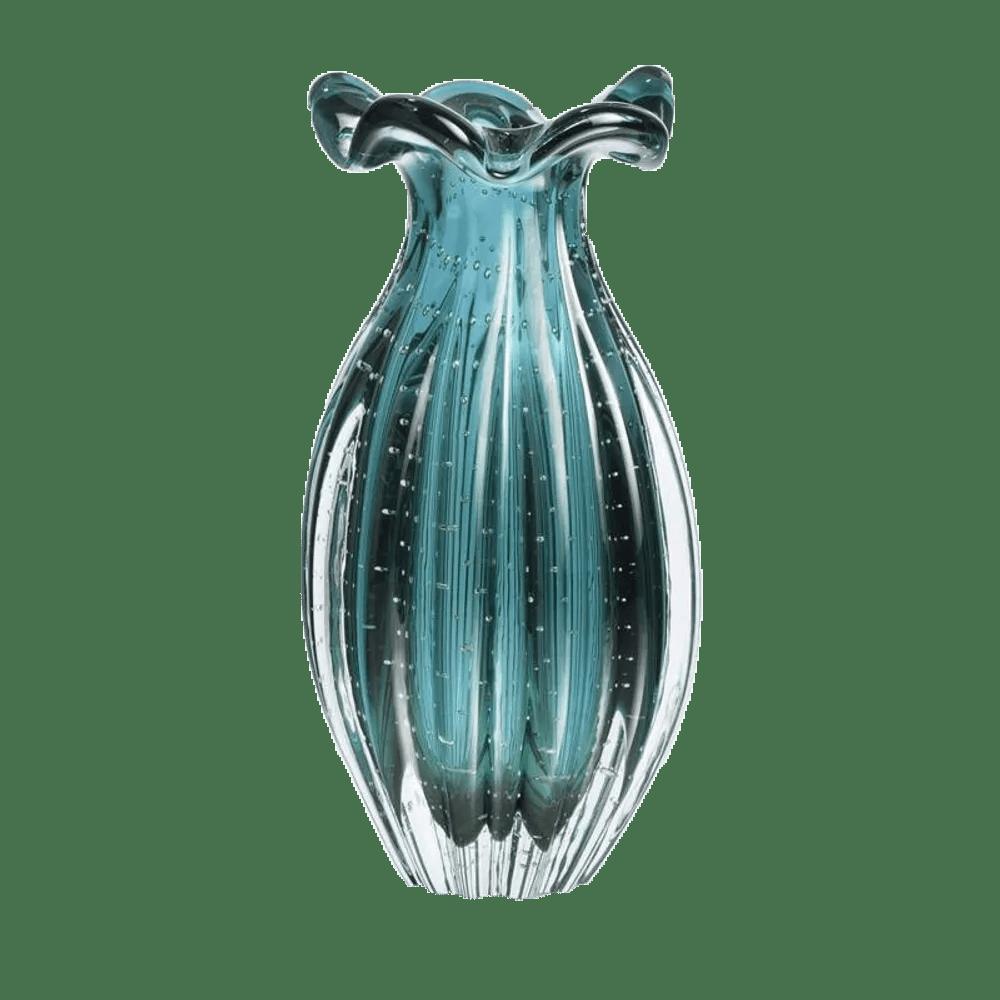 Kit Vasos de Murano Trouxinha São Marcos - Cristal Verde Esmeralda (2 Peças)