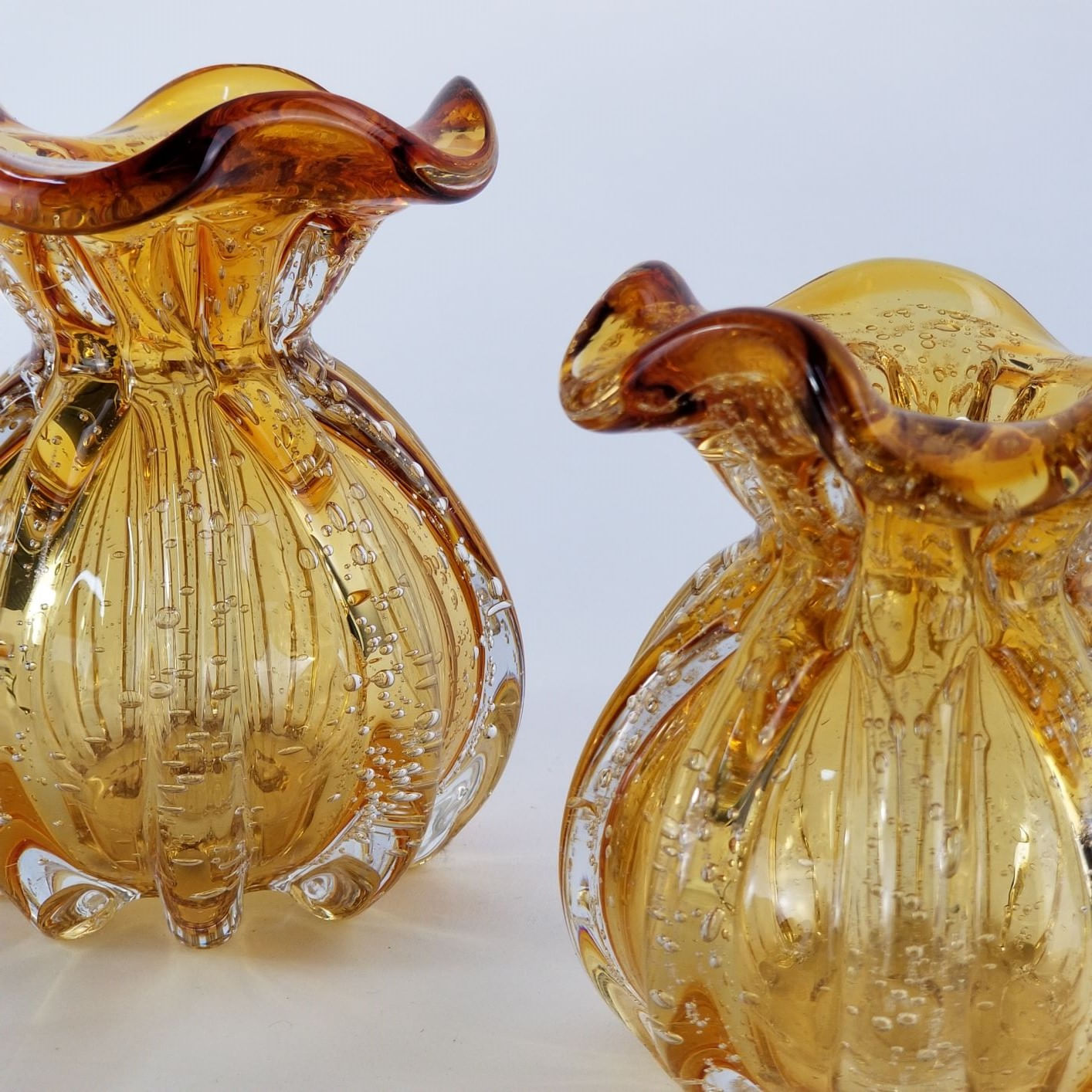 Kit Vasos de Murano - Trouxinhas Decorativas Âmbar (2 Peças)
