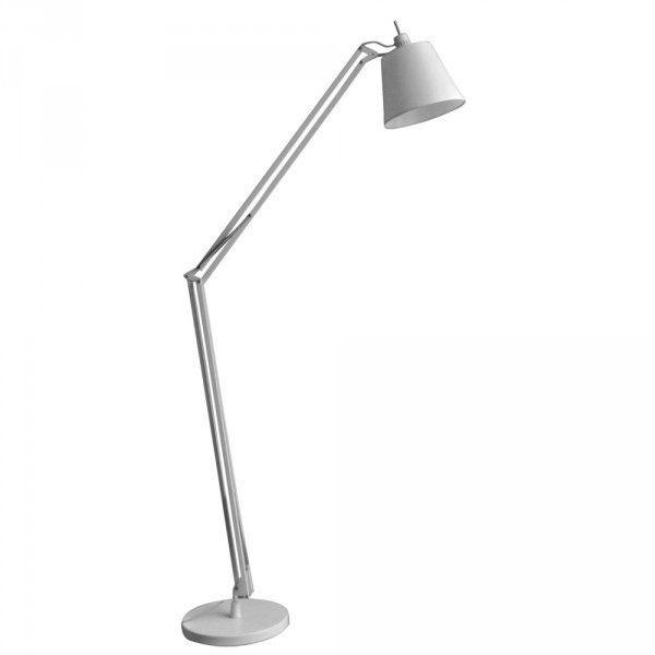 Luminária Coluna Articulada Aço Branco - Bella Scope