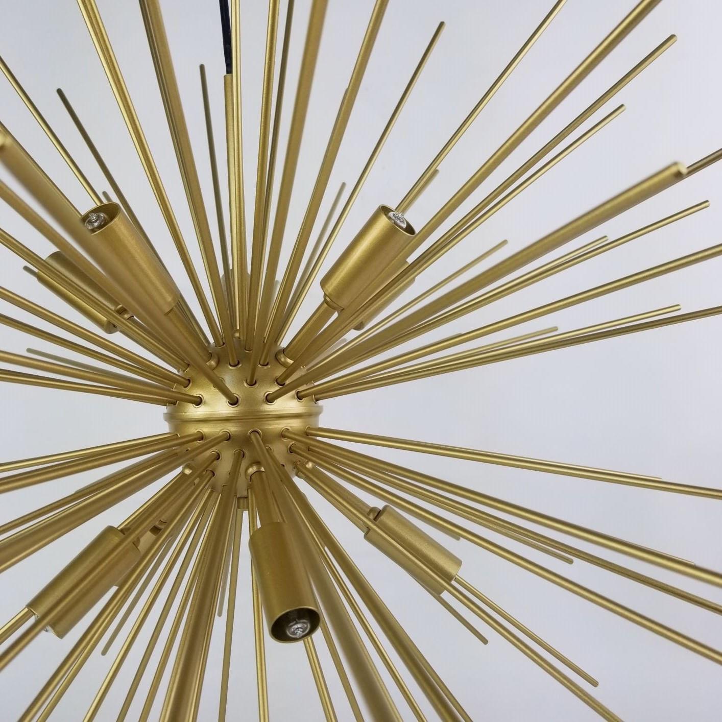 Lustre Pendente Grande para Sala de Jantar - Ouriço Dourado