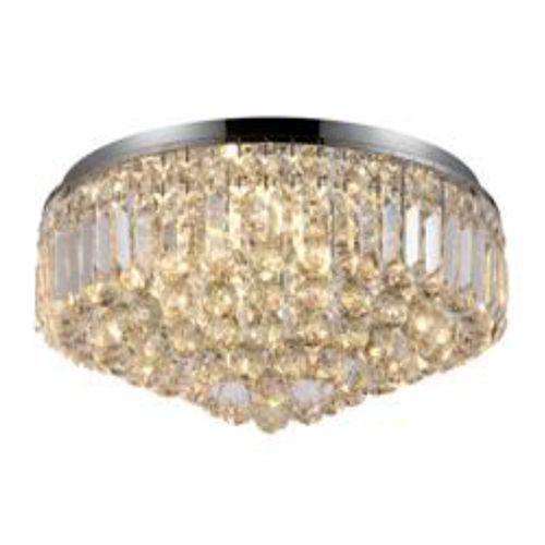 Lustre Plafon de Cristal - Bella Kri Transparente 54cm