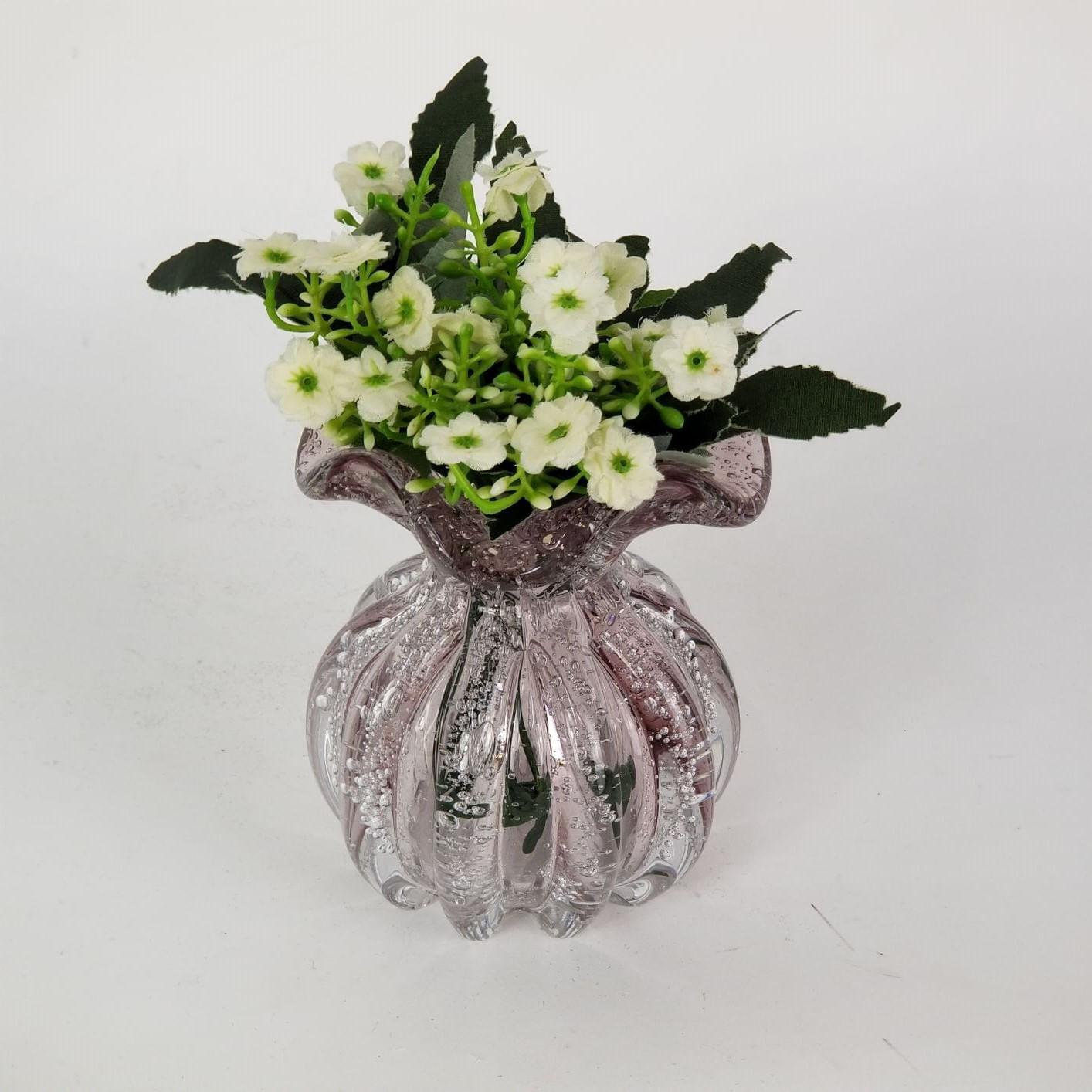 Mini Trouxinha de Murano Rosa Claro - Vasinho Para Flores