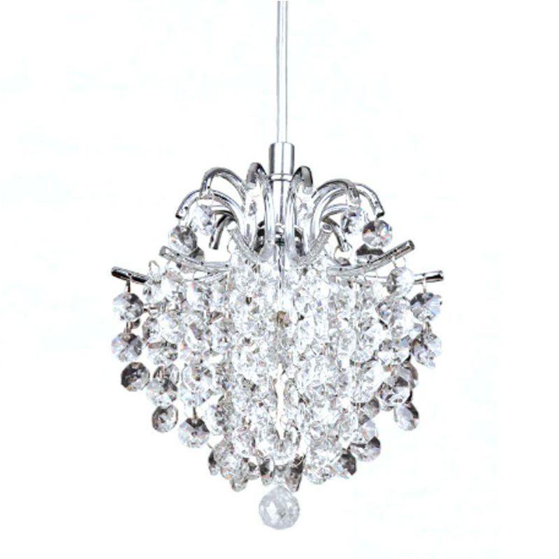 Pendente de Cristal - Bella Fiore Transparente 26cm