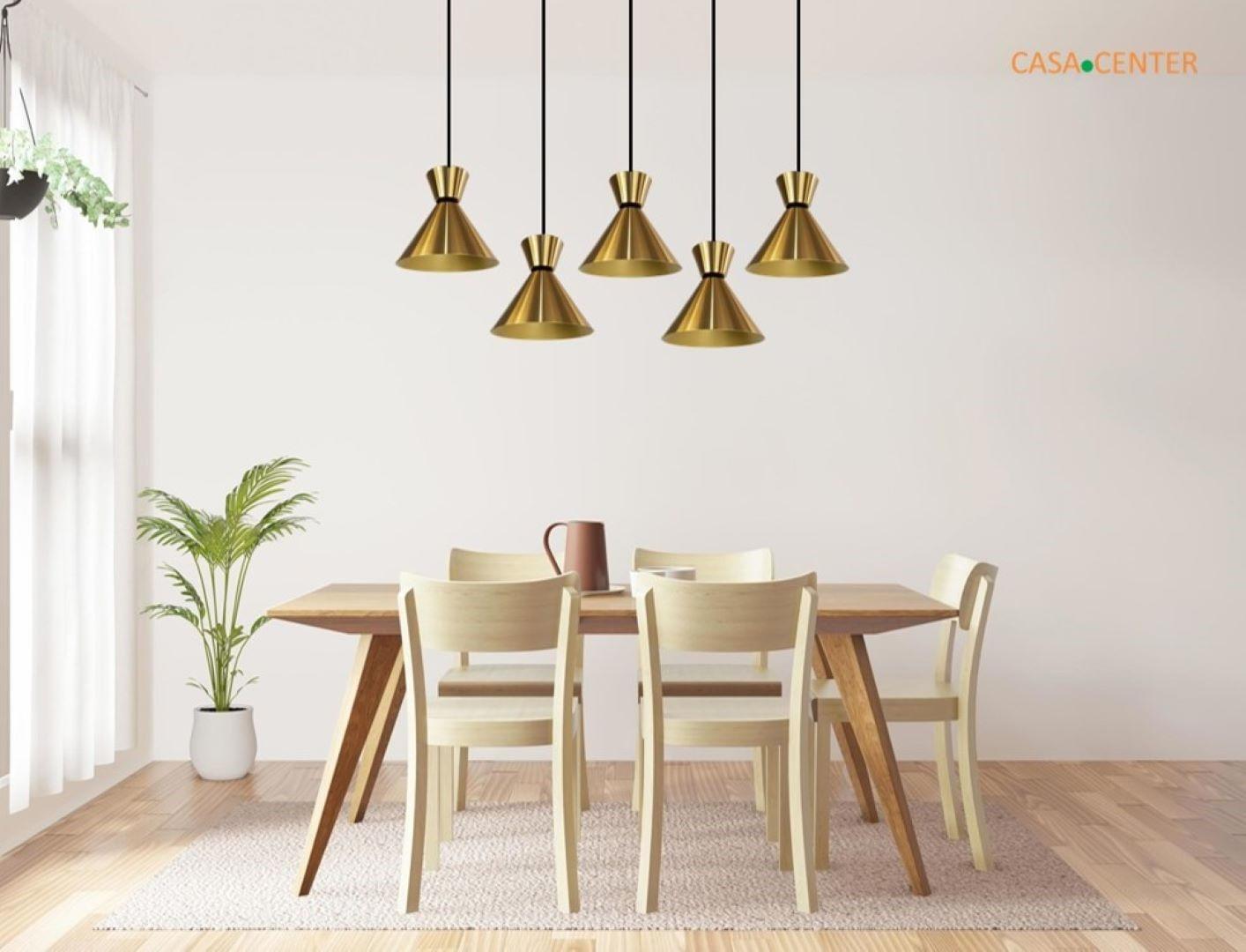 Pendente De Sala de Jantar / Bancada - Bambola 4051 Dourado