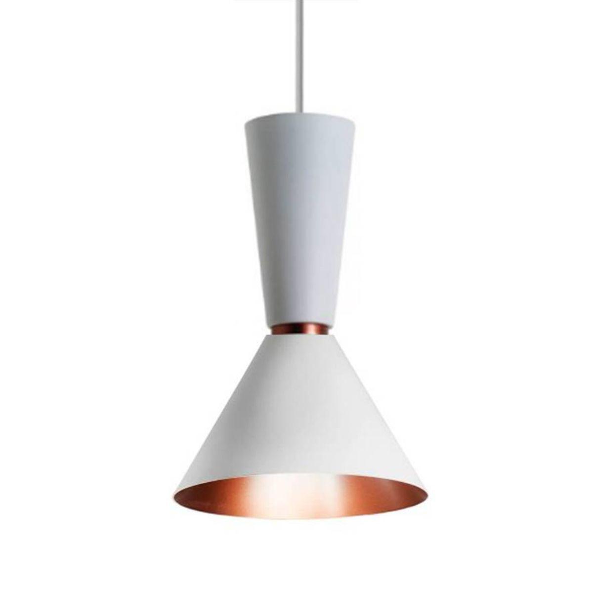Pendente Em Alumínio Branco Com Cobre - Bambola 4052
