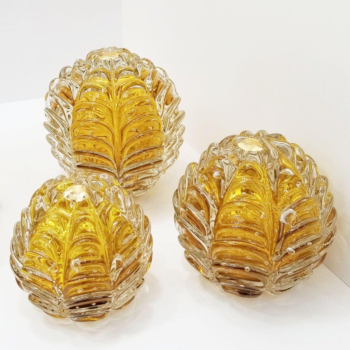 Peso de Cristal Murano D'labone - Cristal Âmbar Sensation 10cm
