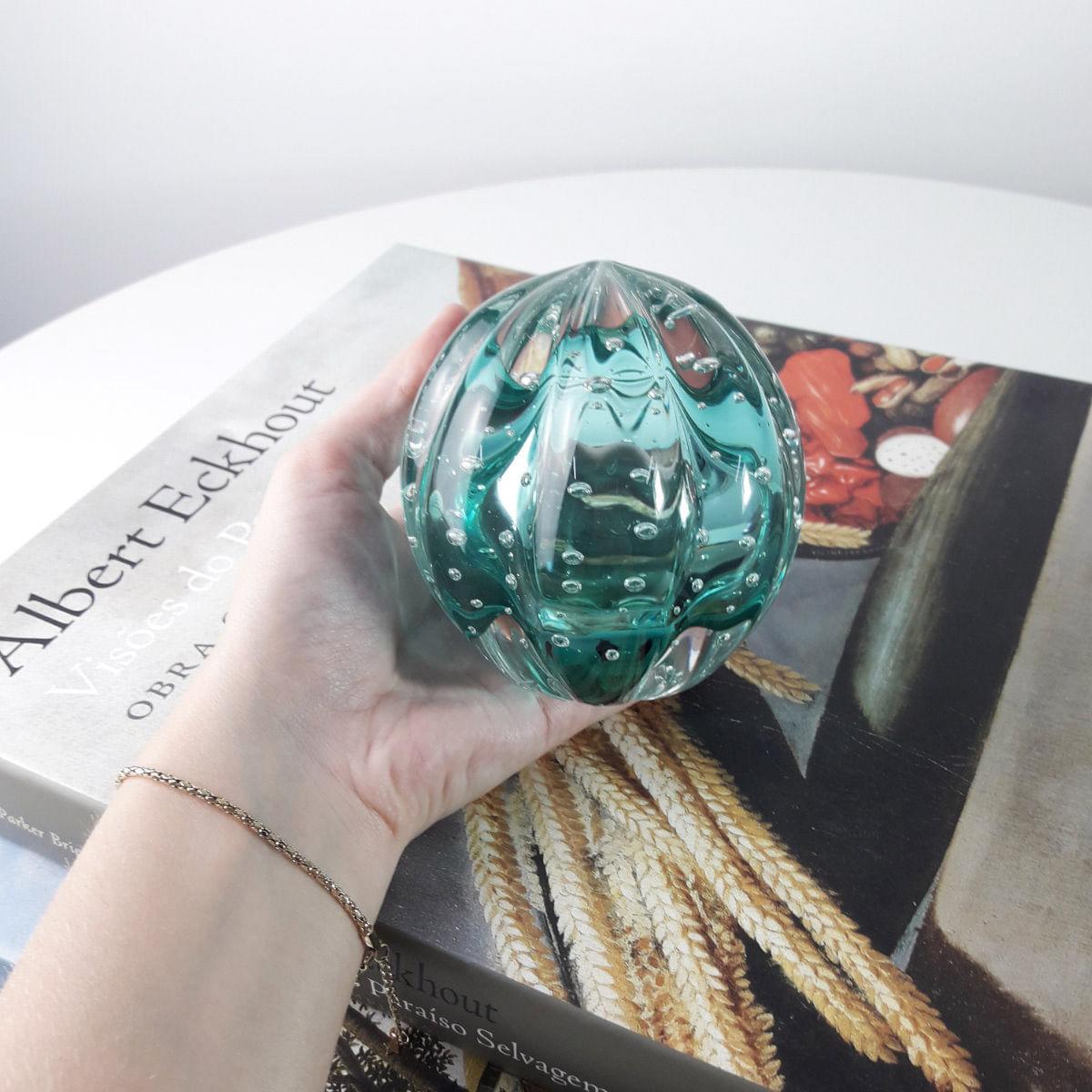 Peso de Cristal Murano D'labone - Cristal Esmeralda Senna 8cm