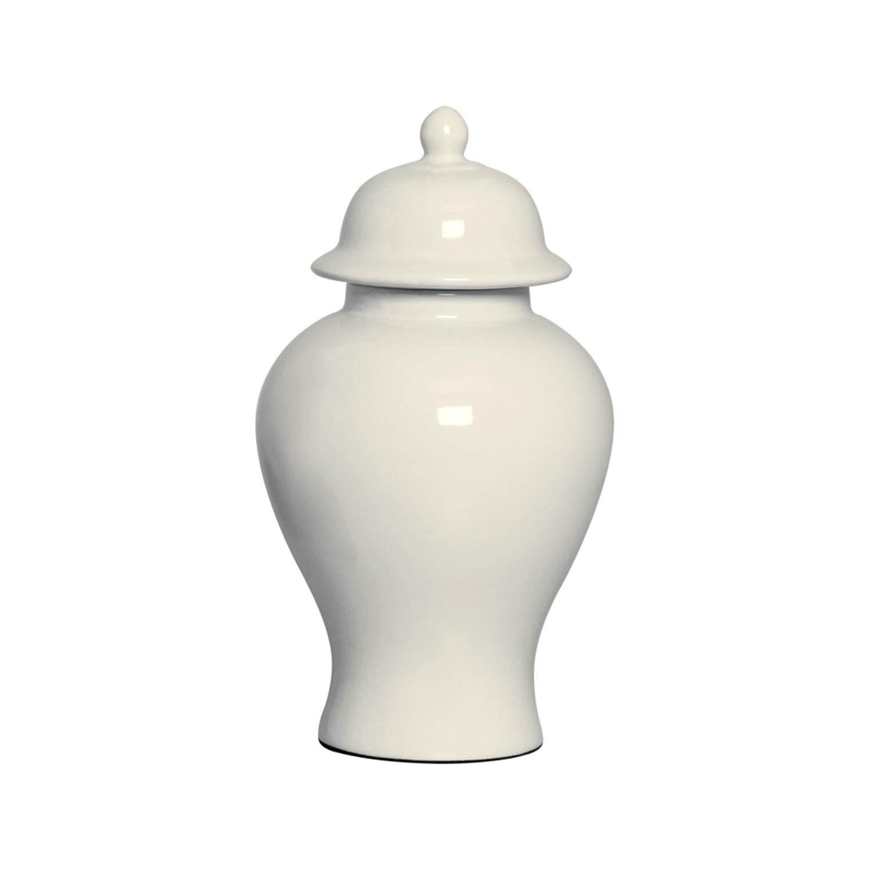 Potiche Decorativo Bege - Pote Grande de Cerâmica Off-White