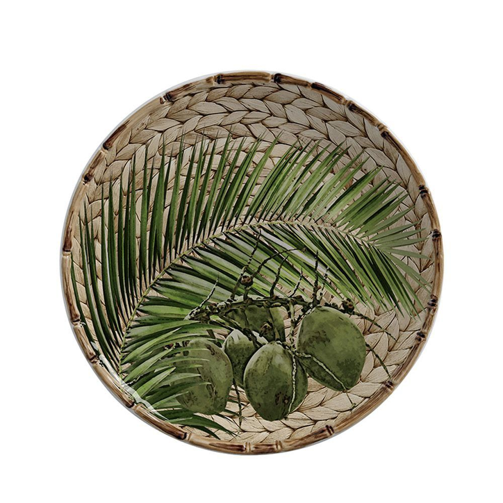 Pratos de Sobremesa Coqueiros Borda Bambu Trancoso (6 peças)