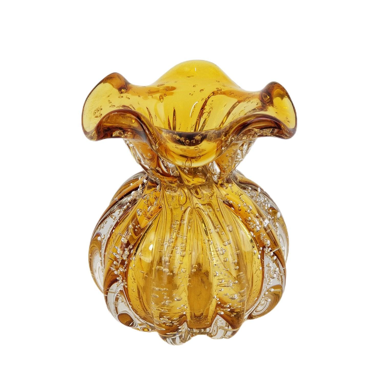Trouxinha de Cristal Murano - Vaso Decorativo Âmbar