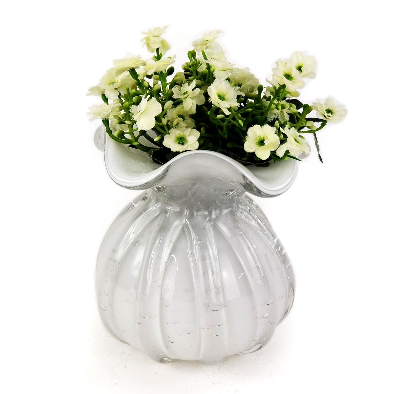 Trouxinha de Murano Pequena - Vasinho de Cristal Cor Branca