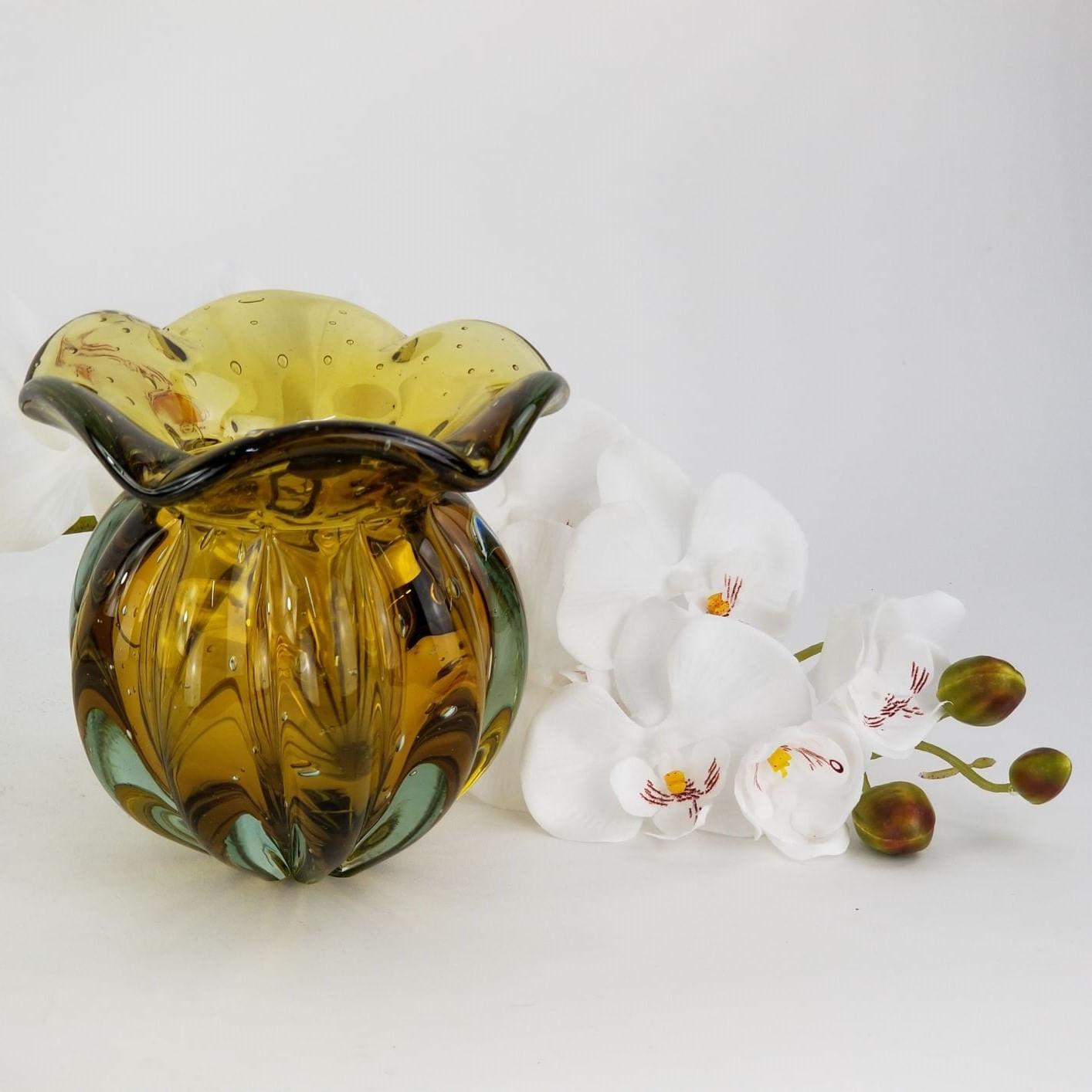 Trouxinha de Vidro Tipo Murano JR Glass - Pequena Cor Âmbar