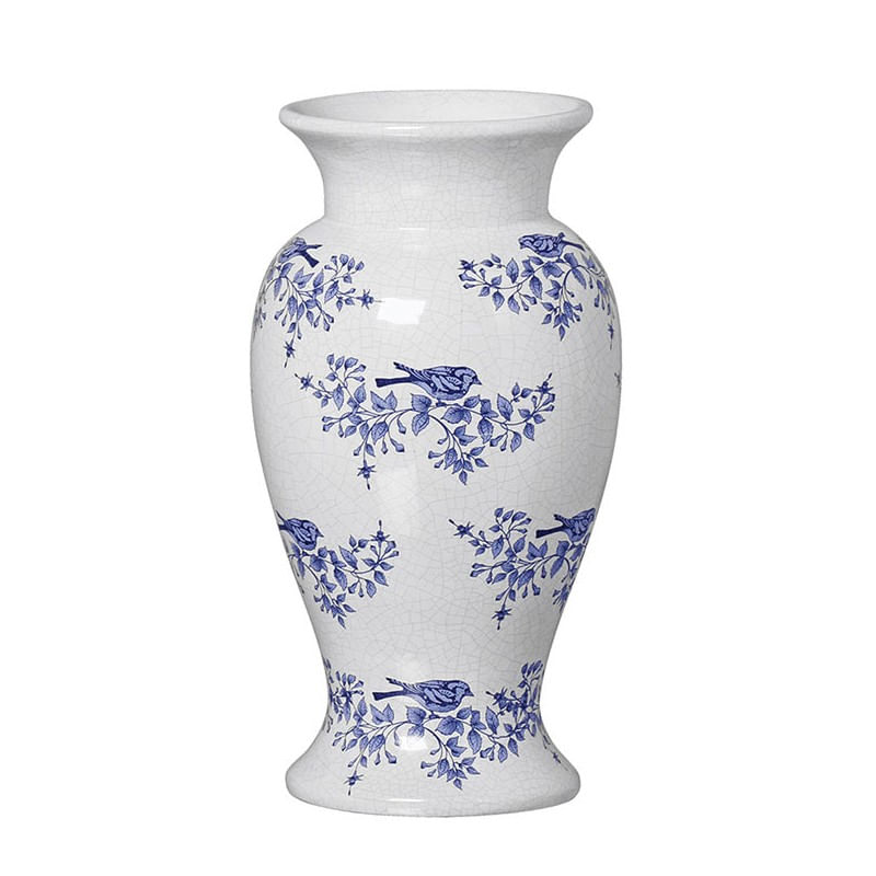 Vaso de Cerâmica - Wuxi Chinesa Victoria Branco 33cm