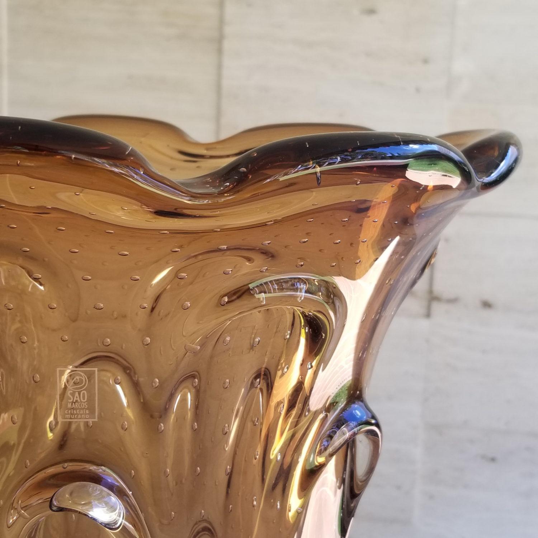 Vaso de Murano Extra Grande Cristais São Marcos - Cor Marrom