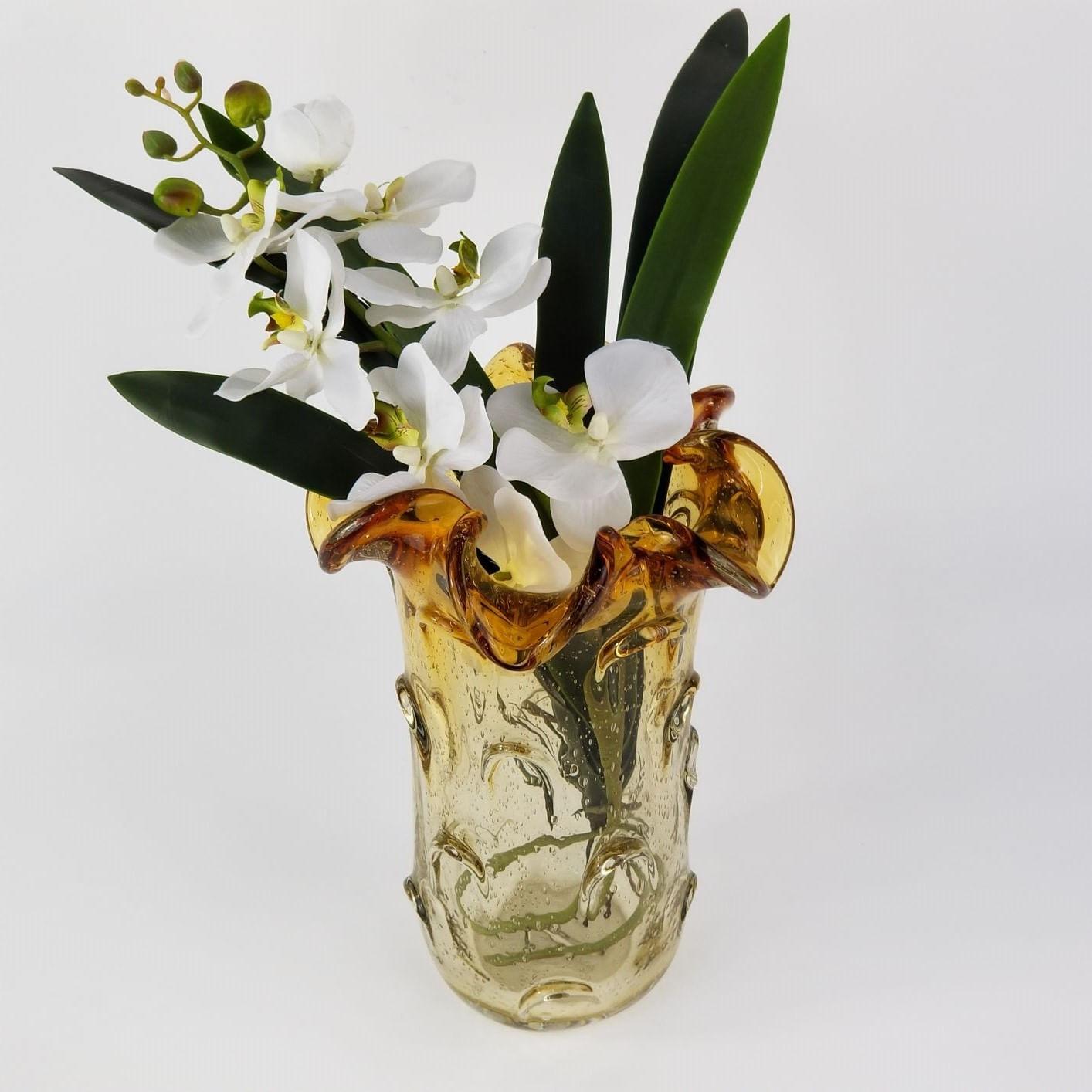 Vaso de Murano Grande para Flores - Âmbar Importado