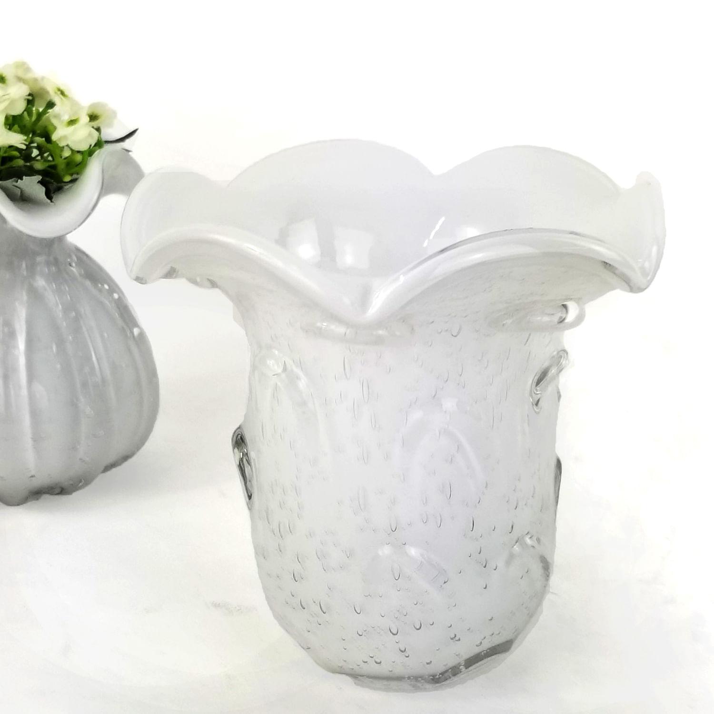 Vaso de Murano Pequeno - Vasinho Decorativo Cristal Branco