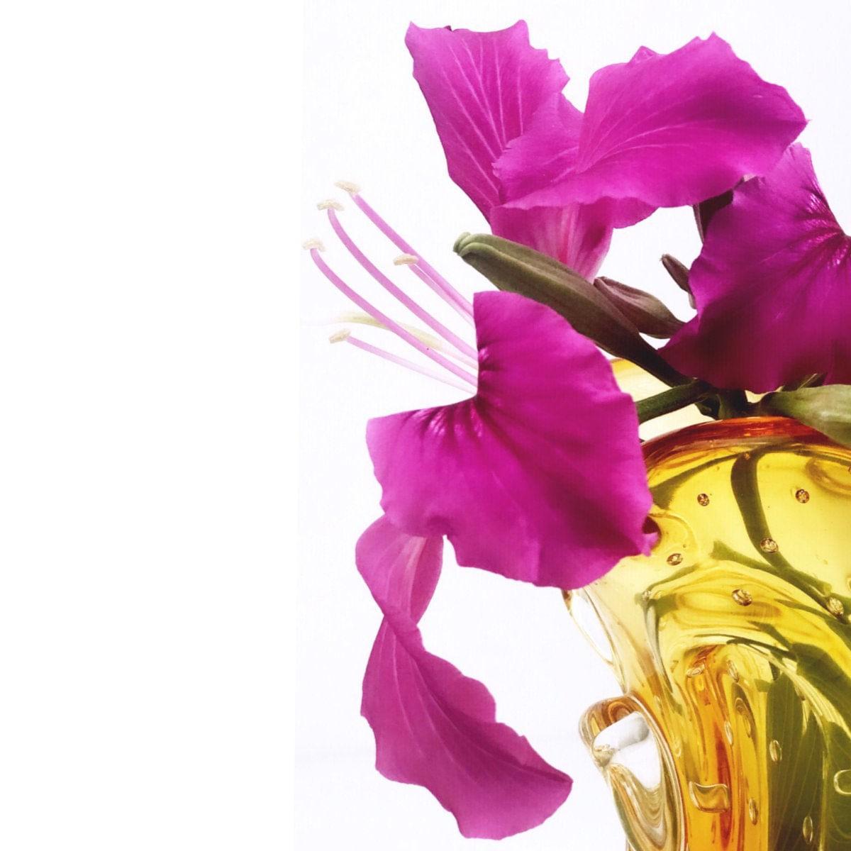 Vaso de Murano São Marcos - Cristal Âmbar 21cm