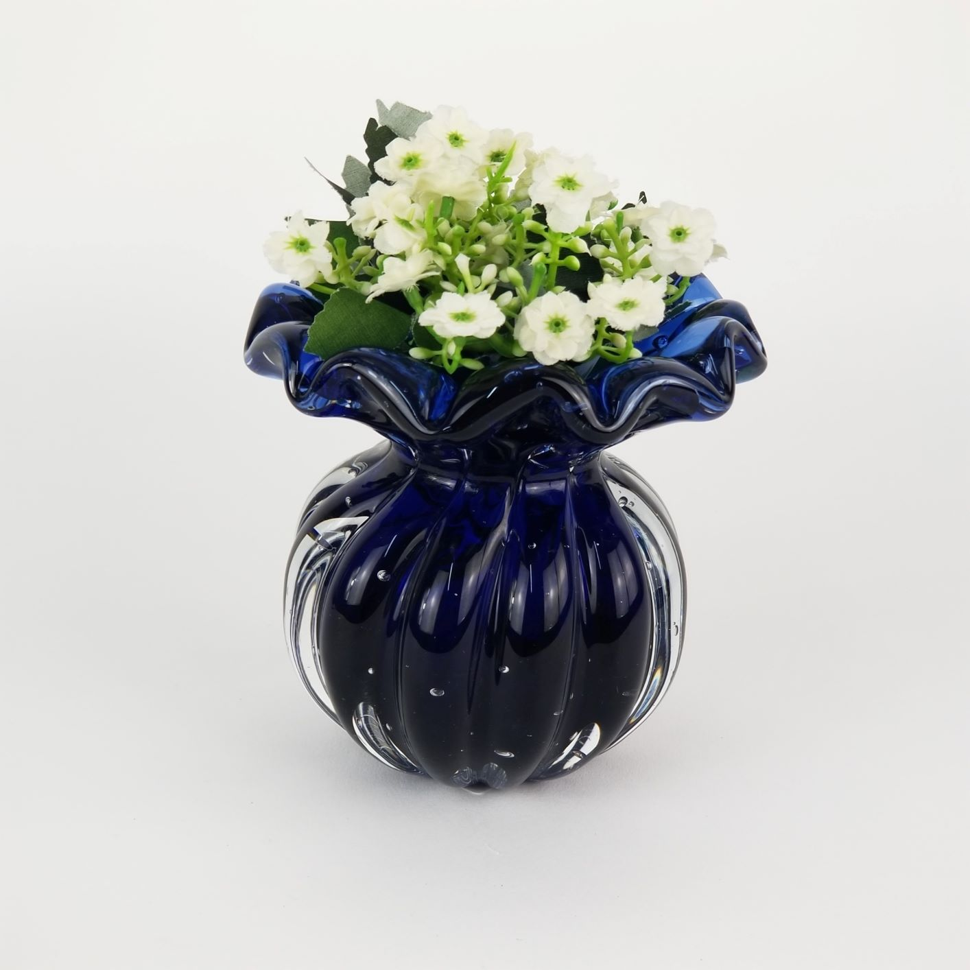 Vaso de Murano Trouxinha Labone - Cristal Azul Marinho