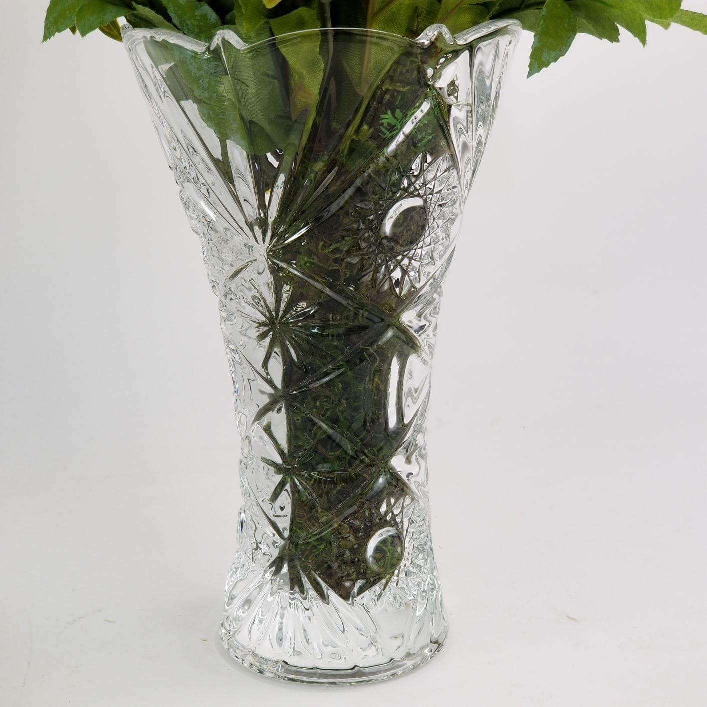 Vaso De Vidro Decorativo Para Flores (Não Inclusas) - 25cm