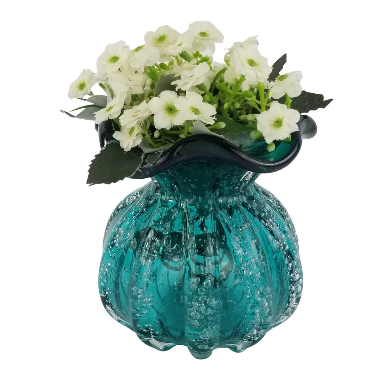 Vaso Decorativo Trouxinha de Cristal Murano - Esmeralda