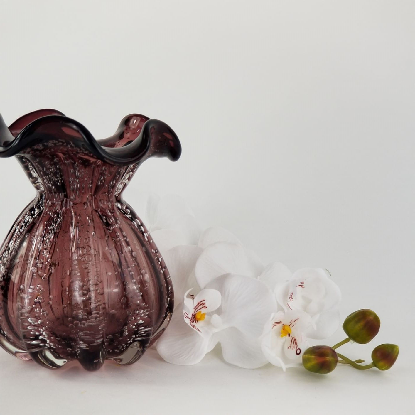 Vaso Decorativo Trouxinha Violeta - Murano Importado