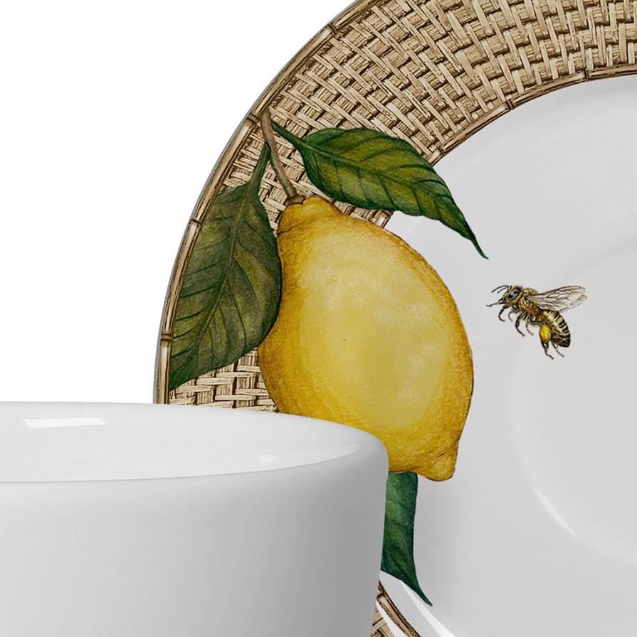 Xícara de Chá Positano Limão Siciliano - Jogo Para 6 Pessoas